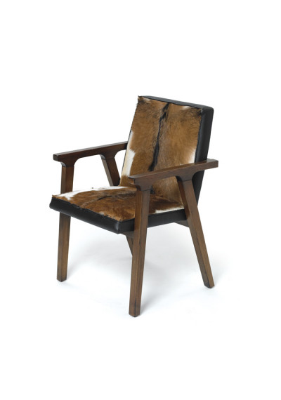 Mahogany & Hide Arm Chair