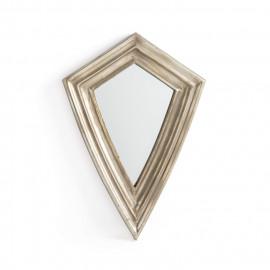 Spear Head Antiqued Silver Metal Framed Wall Mirror