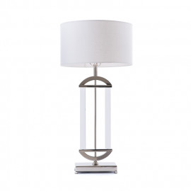 Contemporary Polished Nickel Arch Lamp