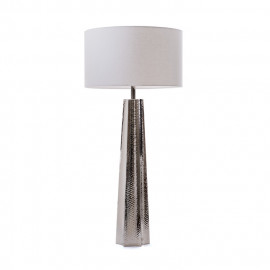 Hammered Nickel Table Lamp