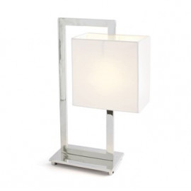 Shade in the Middle Rectangle Nickel Table Lamp