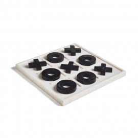 Black & White Marble Tic Tac Toe Board Game