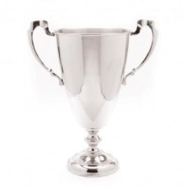 Silver Polished Nickel Trophy Vase