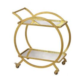 Gold Circular Ring Bar Cart