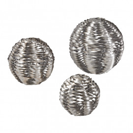 Silver Twisted Cut Metal Balls