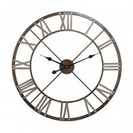 Bronze & Silver Open Back Wall Clock