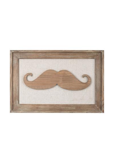 Framed Wooden Moustache Wall Art