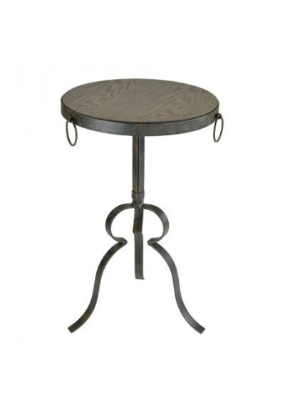 Rustic Industrial Chic Wood & Metal Accent Side Table