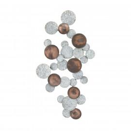 Steel Silver & Copper Baubles Wall Art