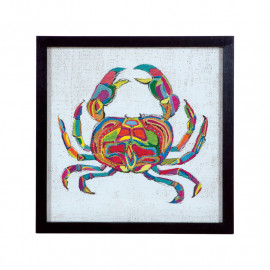 Colorful Painted Crab Framed Wall Decor