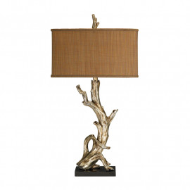Silver Leaf Driftwood Table Lamp
