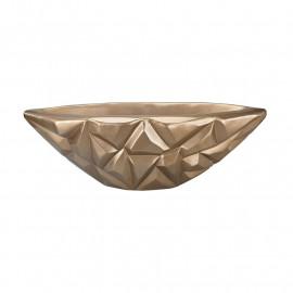 Gold Gem Cut Large Display Bowl