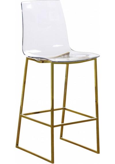 Acrylic Seat Gold Base Counter Stool