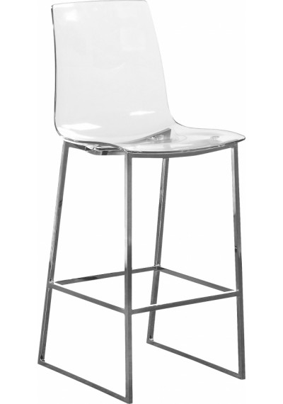 Acrylic Seat Silver Base Counter Stool