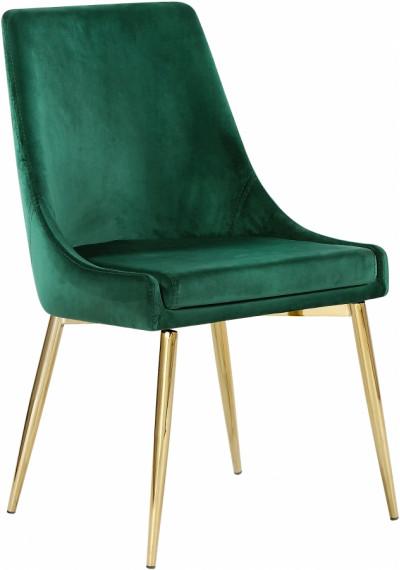 Green Velvet Accent Side Chair Set of 2