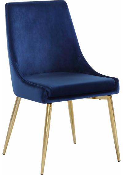 Blue Velvet Accent Side Chair Set of 2