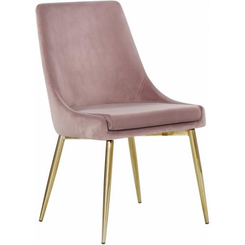 Blush Pink Velvet Accent Side Chair Set of 2