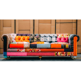 Colorful Patchwork Chesterfield Sofa