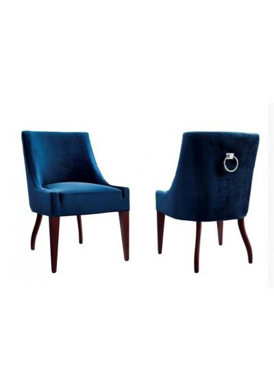 Royal Blue Velvet Chair Dining Set of 2