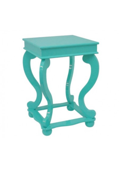 Turquoise Wood Accent Table
