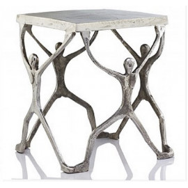 Aluminum Human Figure Accent Table