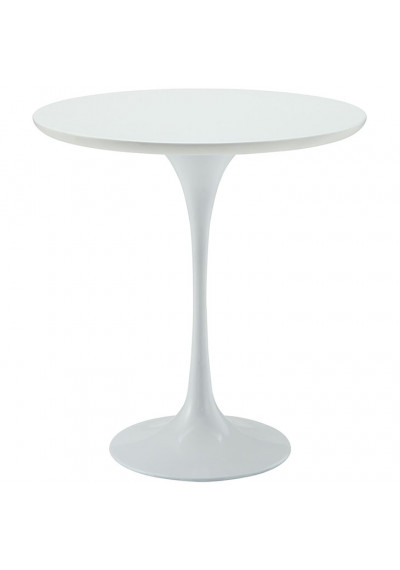 White Lacquer Tulip Side Accent Table