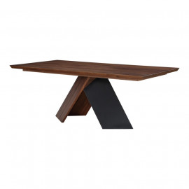 Eclectic X Frame Walnut & Iron Dining Table