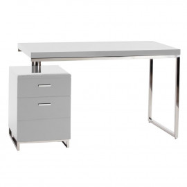 White Lacquer Contemporary Studio Desk