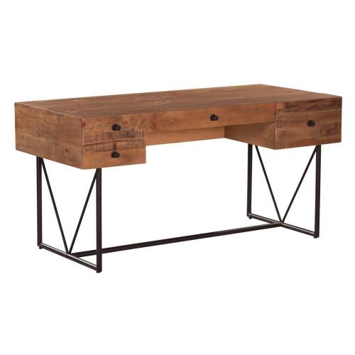 Natural Wood Block Desk