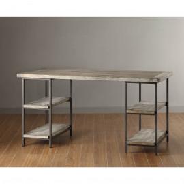 Industrial Style Metal & Wood Open Desk
