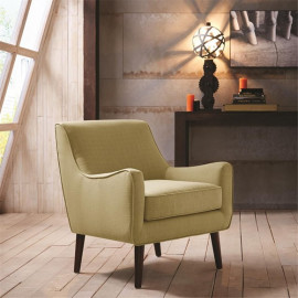 Green Chartreuse Mid-Century Accent Chair