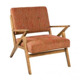Burnt Orange Mid Century Mod Boomerang Chair