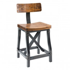 Industrial Counter Bar Stool with or without Back