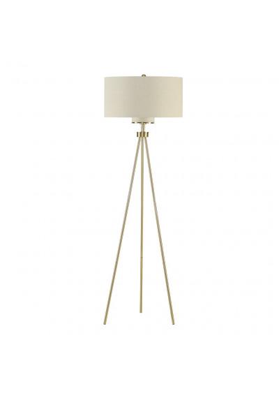 Gold Modern Tripod Floor Lamp White Shade