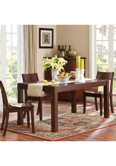 Espresso Finish Cottage Parsons Dining Table