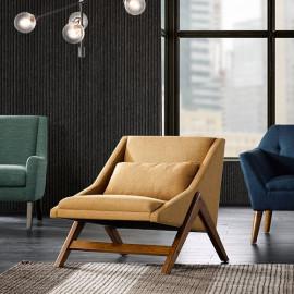 Mustard Yellow Mid Century Boomerang Lounge Chair