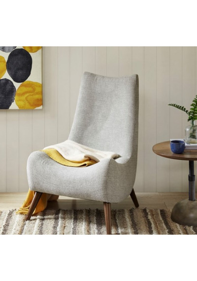 Tan Soup Spoon Mid Century Lounge Chair