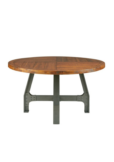 Industrial Round Adjustable Gathering or Dining Table