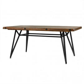 Reclaimed Wood Industrial Dining or Gathering Table in One