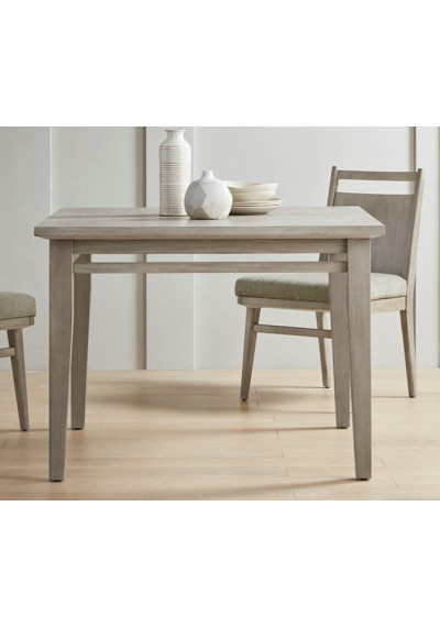 Farmhouse Natural Wood Grey Wash Square Dining Table