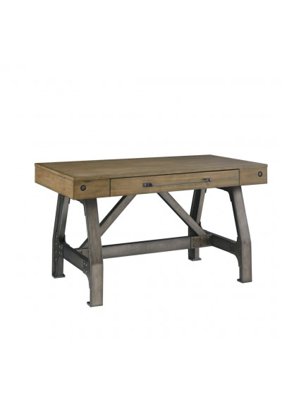 Rustic Industrial Wooden and Iron Look Desk