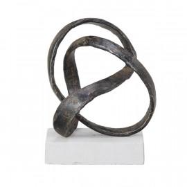 Metal  Twist Sculpture Table Top Decor