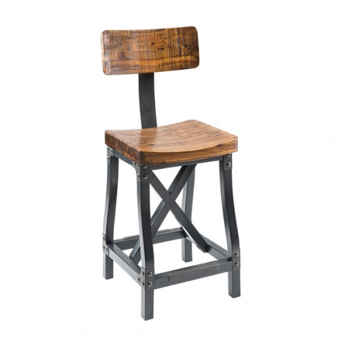 Industrial Barstool with or without Back