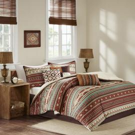 Southwestern Rusts & Aquas Comforter Set Queen & King Size