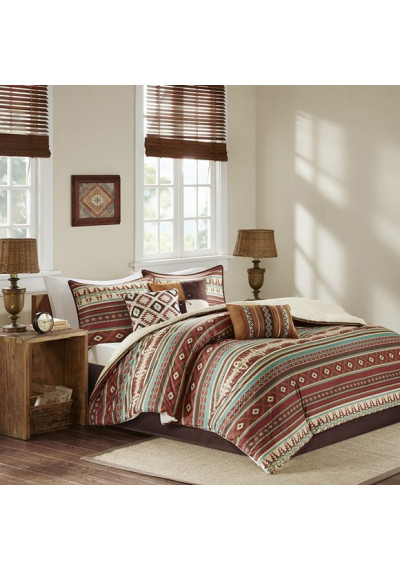 Southwestern Rusts & Aquas Comforter Set Queen & King Size