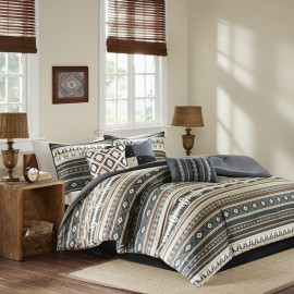 Southwestern Black & Browns Comforter Set Queen & King Size