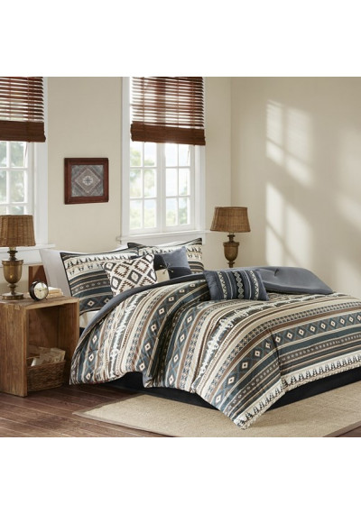 Southwestern Black & Browns Comforter Set Queen & King Size