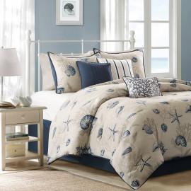 Navy Seaside Comforter Set King or Queen