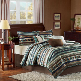 Southwestern Blue Comforter Set Queen & King Size
