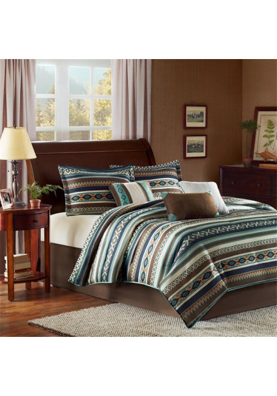 Southwestern Blue Comforter Set Queen & King Size